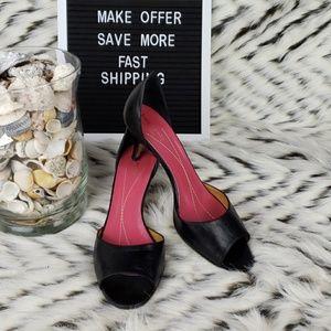 Kate Spade Sz 8B Open Toe Black Heels
